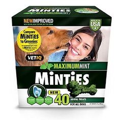 Minties Dental Dog Treats 40 ct. 2 * Click image for more details. (This is an affiliate link)