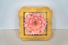 Pink Bloom in Gold Shadowbox