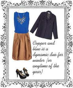 """""""Copper and Blue"""" by cbslifestylist on Polyvore"""
