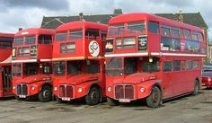 This line up was taken at a Yorkhill yard in Glasgow around 2005 waiting for a new buyer Tow Truck, Trucks, Routemaster, Double Decker Bus, Bus Coach, London Bus, London Transport, 4x4, Busses
