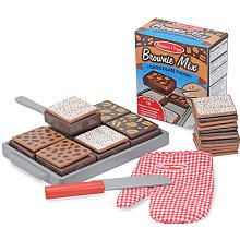 "Melissa & Doug Wooden Bake and Serve Brownies - Melissa & Doug - Toys ""R"" Us"