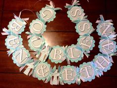 Baptism Banner God bless with child's name. by HandcraftedByW