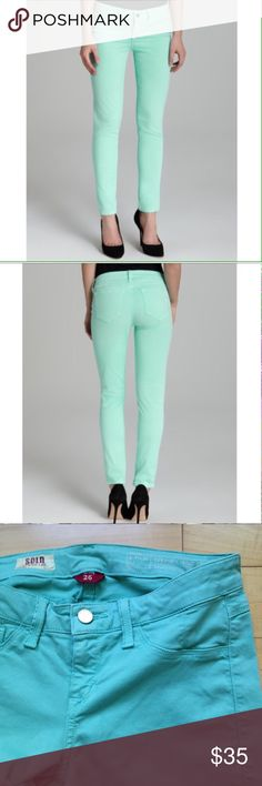 Mint Spring Street Skinny by Sold Design Lab Super comfortable mint skinny jeans. 96% cotton, 4% spandex. Anthropologie Jeans