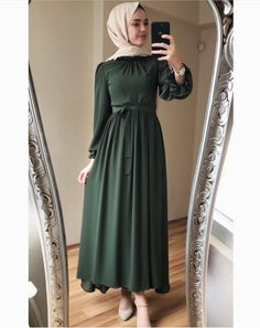 New Design Fashion Muslimah Ideas Modest Fashion Hijab, Modern Hijab Fashion, Hijab Fashion Inspiration, Abaya Fashion, Fashion Dresses, Fashion Muslimah, Hijab Prom Dress, Hijab Evening Dress, Hijab Outfit