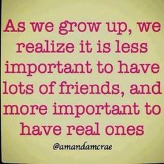 as we grow up...