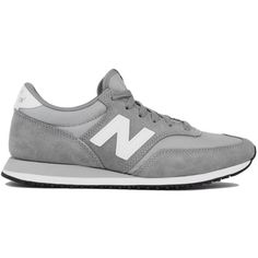 New Balance 620 Core Sneakers - Grey/White ($75) ❤ liked on Polyvore featuring shoes, sneakers, zapatillas, gray sneakers, denim sneakers, white platform sneakers, white tennis shoes and grey sneakers
