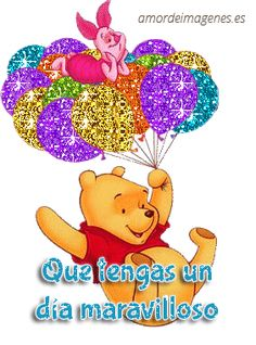 Sparkling Winnie the Pooh and Piglet riding on balloons Birthday Messages, Birthday Quotes, Birthday Cards, Disney Birthday, Happy Birthday Pictures, Happy Birthday Greetings, Winnie The Pooh Friends, Disney Winnie The Pooh, Disney Disney