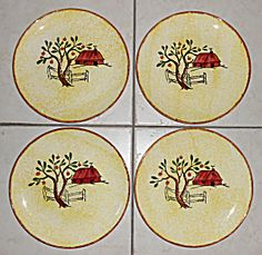 Blue Ridge Pottery Red Barn Set/4 Luncheon Plates  sc 1 st  Pinterest & Blue Ridge Southern Potteries Pie Crust Dinnerware 1948 Photo Ad ...
