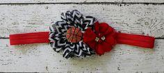 Chicago Bulls headband Miami Heat basketball by AshlynsAccessoryCo