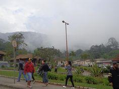 Aos pouco o fog toma conta de toda a Vila de Paranapiacaba. Um tipico ambiente londrino.