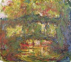 Claude Monet, the japanese bridge, 1918-24