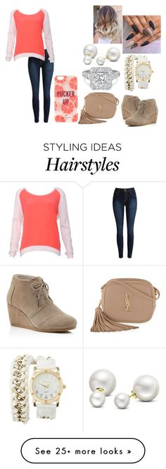 """""""Untitled #856"""" by the2020 on Polyvore featuring Sandro, TOMS, Yves Saint Laurent, Kate Spade, Charlotte Russe and Allurez"""