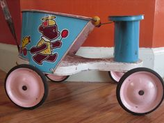 Items similar to 1950 Vintage Metal Tin Baby Doll Toy Stroller Nassau Products Troy NY on Etsy
