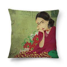 Almofada Frida Vintage - Cecília Murgel Drawings