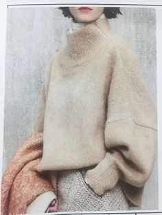 353cc3d78e467 Knitting Patterns Neutral Winter Neutrals and Giant Sweaters