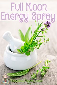 Full Moon Energy Spray to cleanse negative energy.