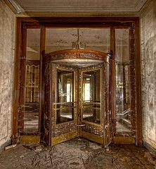 Abandoned hotel entrance, Thuringia, Germany