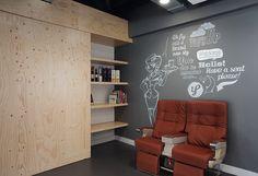 Studiomfd corridor industrial accents office design creative