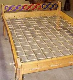 The Homestead Survival | How To Build A Transportable Rope Bed and Mattress Project | http://thehomesteadsurvival.com