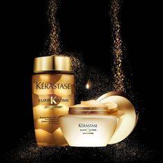 Kerastase Elixir Ultime adatto a tutti i tipi di capelli. Una texture sensuale, un tocco prezioso, una lucentezza scintillante.