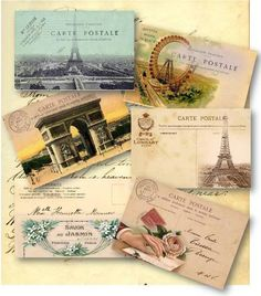 I love these vintage French postcards!