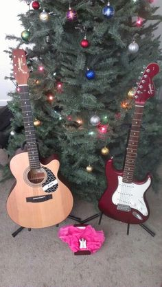 SandraK's Christmas Guitars!