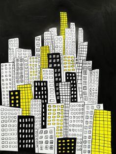 Instagram: my_moody_my #ink #inkillustration #inkpainting #illustration #drawing #sketch #doodle #illustrationart #architecture #skyline #urbansketching #blackink