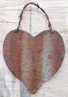 Rusty Hearts with the scraps from basement walls !!!