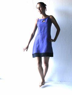 Linen tunic Blue dress Shift dress Tunic dress Day by larimeloom