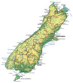 neuseeland südinsel karte im Neuseeland Reiseführer http://www.abenteurer.net/3882-neuseeland-reisefuehrer/
