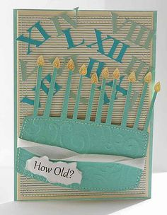 How old? Birthday card made with the #Cricut