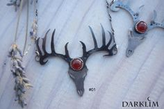 I want to share the last thing I added to my shop #etsy: Ancient Magic Necklace deer antlers with gem 925 silver carnelian http://etsy.me/2nx5AvH #joyeria #collar #plata #no #mujer #naranja #boho #darklim