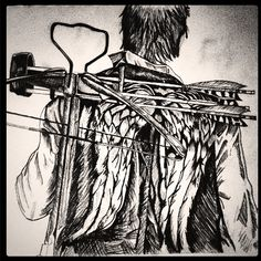 Daryl Dixon drawing by Maul McCartney (c) #TheWalkingDead #DarylDixon #NormanReedus