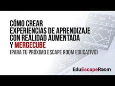¡Descubre Mergecube 😮y aprender a crear experiencias de realidad aumentada sorprendentes para tu Escape Room educativo con este videotutorial y las plantillas descargables! Escape Room, Vr, Youtube, Riddles, Augmented Reality, Learning, Create, Youtubers, Youtube Movies