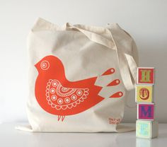 Hand screen printed cotton tote bag featuring my Red Bird illustration. It is perfect for a general carry bag or for eco gift wrapping. Comes folded and beautifully packaged in a cello bag. Bird Illustration, Etsy Uk, Cello, Handmade Christmas, Cotton Tote Bags, Printed Cotton, Screen Printing, Great Gifts, Unique Jewelry