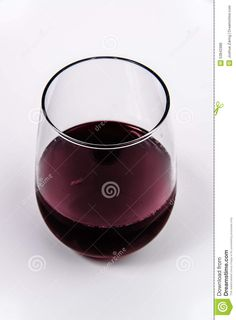 Red Wine In A Stemless Wine Glass From Top - Download From Over 45 Million High Quality Stock Photos, Images, Vectors. Sign up for FREE today. Image: 53842986