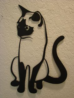 Kitty Cat Metal Art Wall Hanging by Metalheadartdesign on Etsy, $39.99
