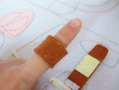 felt band aids for dr. kit would be cute for kaitlyn @Kimberly Mcwhirter