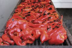 Florina peppers on the grill.