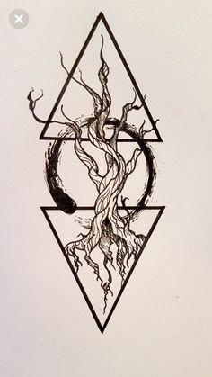 Ideas For Tattoo Forearm Abstract – Tattoo Sketches & Tattoo Drawings Buddha Tattoos, Forearm Tattoos, Body Art Tattoos, Sleeve Tattoos, Cool Tattoos, Tatoos, Tattoos Of Trees, Circle Tattoos, Trendy Tattoos