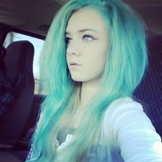 faded Splat Aqua Rush #splat #pastelhair #greenhair #scenehair