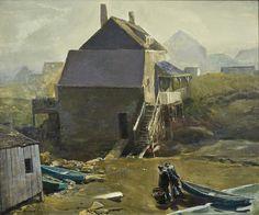 """Fisherman's Beach, Monhegan,"" Rockwell Kent, 1907, oil on canvas, 25 1/8 x 30 1/8"", Orlando Museum of Art."