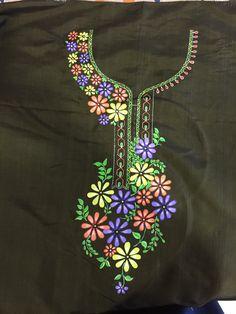To customize whatsapp 9043230015 for Saree, blouse and Kurt Herb Embroidery, Embroidery On Kurtis, Kurti Embroidery Design, Hand Embroidery Flowers, Embroidery On Clothes, Flower Embroidery Designs, Embroidery Suits, Embroidery Fabric, Hand Embroidery Stitches