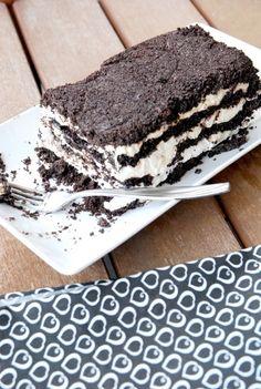 Tuxedo icebox cake for Dad (no bake!)