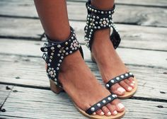 late summer trend: studded sandals