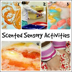 15 SCENT-sational Sensory Activities for Kids | Fun-A-Day. For more sensory pins, follow @Connecting for Kids
