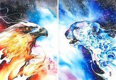 Luqman Reza, un artista visionario que basa su inspiración en los animales, compartió esta impresionante galería mostrando sus pinturas.