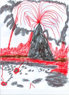 kid art + volcanoes = awesome