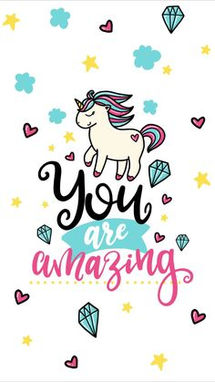 You're really amazing! 💎Get this nice picture for your iPhone X! Cute Wallpaper Backgrounds, Wallpaper Iphone Cute, Cool Wallpaper, Wallpaper Quotes, Cute Wallpapers, Unicorn Quotes, Unicorn Art, Photos For Facebook, Cute Bedroom Decor
