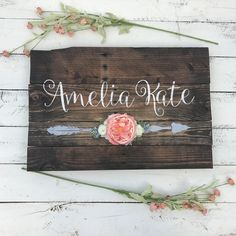 A personal favorite from my Etsy shop https://www.etsy.com/listing/525719089/rustic-large-26x16-nursery-name-arrow